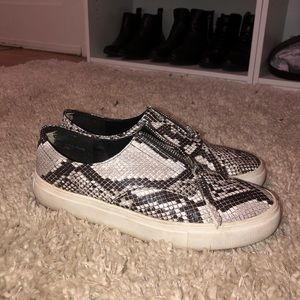 Bamboo Snake Print Sneakers Size 8